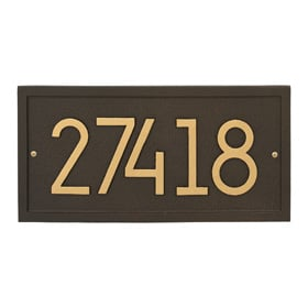 Whitehall Modern Rectangle Plaque Aged Bronze