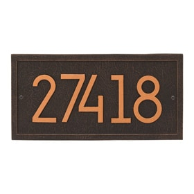 Whitehall Modern Rectangle Plaque Bronze