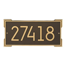 Whitehall Modern Roanoke Plaque Aged Bronze