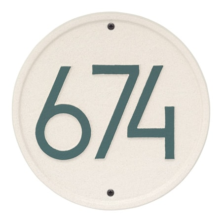 Whitehall Round Modern Address Plaque