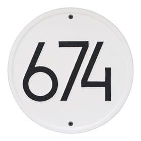 Whitehall Modern Round Plaque White Black