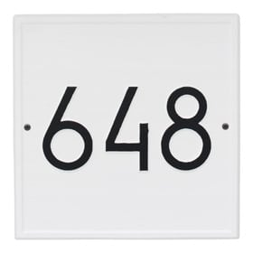 Whitehall Modern Square Plaque White Black