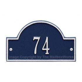 Whitehall Petite Arch Marker Blue Silver