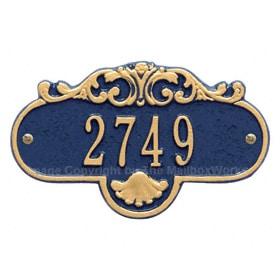 Whitehall Petite Rochelle Plaque Blue Gold