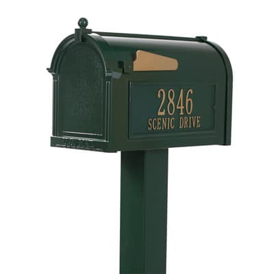 Whitehall Premium Mailbox Package Green Gold