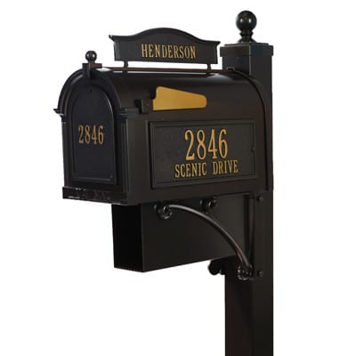 Whitehall Ultimate Mailbox Package Bronze Gold
