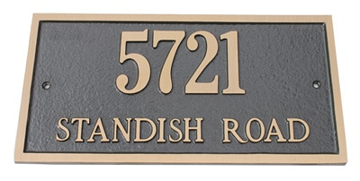 Majestic Brass Address Plaques