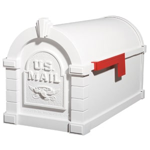 Gaines Eagle Keystone Mailbox All White