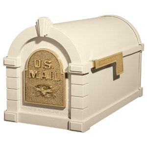 Eagle Keystone Mailbox Almond Polished Brass