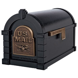 Eagle Keystone Mailbox Black Antique Bronze