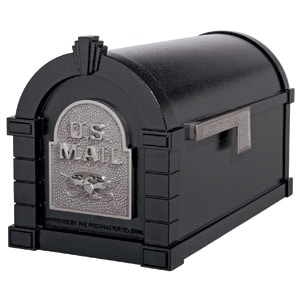 Eagle Keystone Mailbox Black Satin Nickel