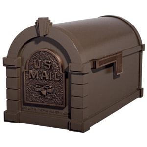 Eagle Keystone Mailbox Metallic Bronze Antique