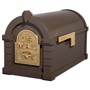 Eagle Keystone Mailbox Metallic Bronze Brass