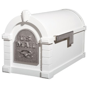 Eagle Keystone Mailbox White Satin Nickel
