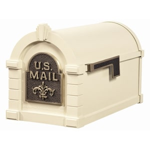 Fleur Keystone Mailbox Almond Antique Bronze