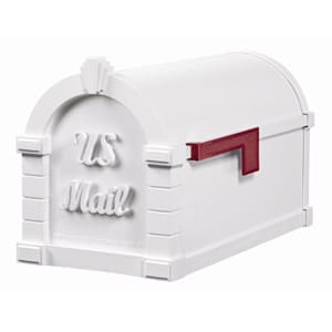 Gaines Signature Keystone Mailbox All White
