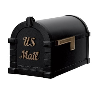 Signature Keystone Mailbox Black Antique Bronze
