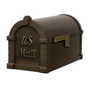 Signature Keystone Mailbox Metallic Bronze Antique