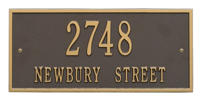 Square & Rectangle Address Plaques by Whitehall, Stone Mill