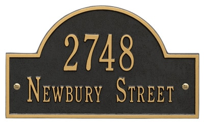 Wall Address Plaques and Unique House Numbers