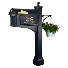Whitehall Balmoral Deluxe Mailbox Package Black