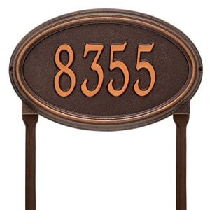 Whitehall Concord Oval Lawn Antique Copper