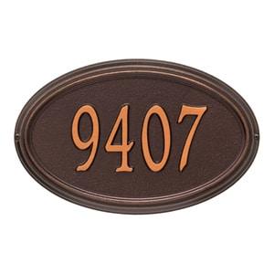 Whitehall Concord Oval Plaque Antique Copper