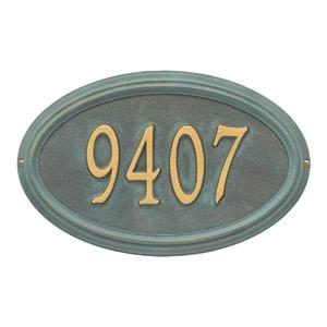 Whitehall Concord Oval Plaque Bronze Verdigris