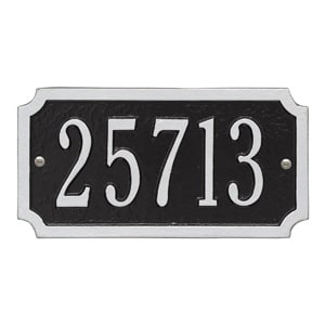 Whitehall Cut Corner Address Black Silver