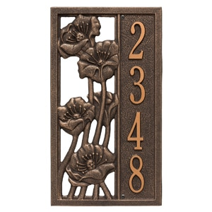 Whitehall Flowering Poppies Oil Rubbed Bronze