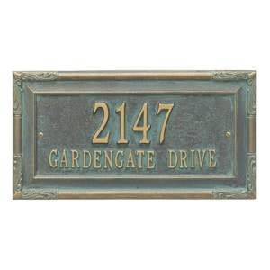 Whitehall Gardengate Address Plaque Bronze Verdigris