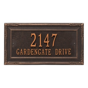 Whitehall Gardengate Plaque Oil Rubbed Bronze