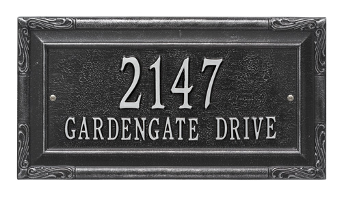 Whitehall Gardengate Address Plaque