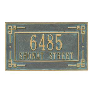 Whitehall Key Corner Plaque Bronze Verdigris