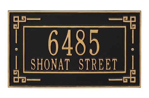 Whitehall Key Corner Rectangle Address Plaque