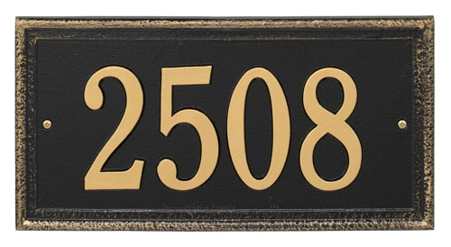 Whitehall Mason's Rectangle Address Plaque