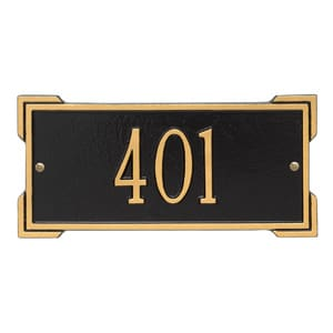 Whitehall Mini Roanoke Plaque Black Gold