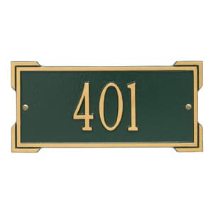 Whitehall Mini Roanoke Plaque Green Gold