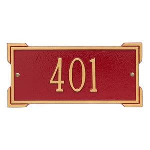 Whitehall Mini Roanoke Plaque Red Gold