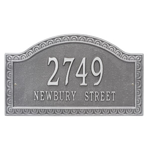 Whitehall Penhurst Address Plaque Pewter Silver