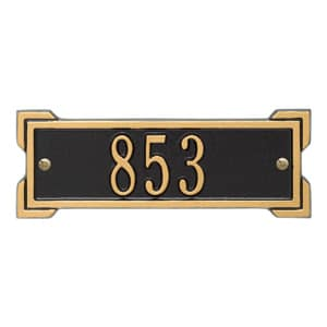 Whitehall Petite Roanoke Plaque Black Gold