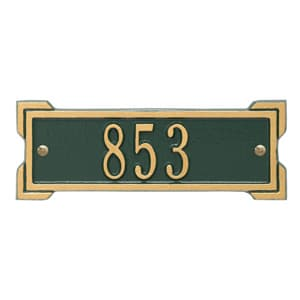 Whitehall Petite Roanoke Plaque Green Gold