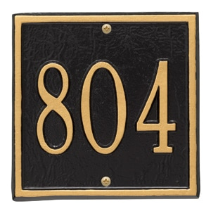 Whitehall Petite Square Plaque Black Gold
