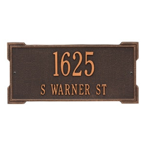 Whitehall Roanoke Plaque Oil Rubbed Bronze