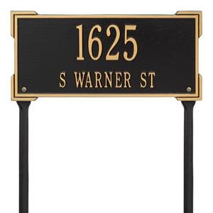 Whitehall Roanoke Lawn Marker Black Gold
