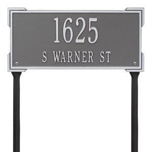 Whitehall Roanoke Lawn Marker Pewter Silver