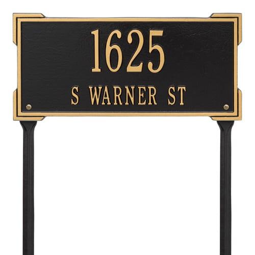 Whitehall Roanoke Rectangle Lawn Marker Address Plaque