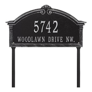 Whitehall Roselyn Lawn Marker Black Silver