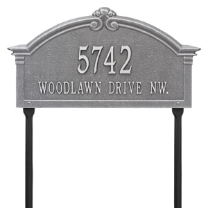 Whitehall Roselyn Lawn Marker Pewter Silver