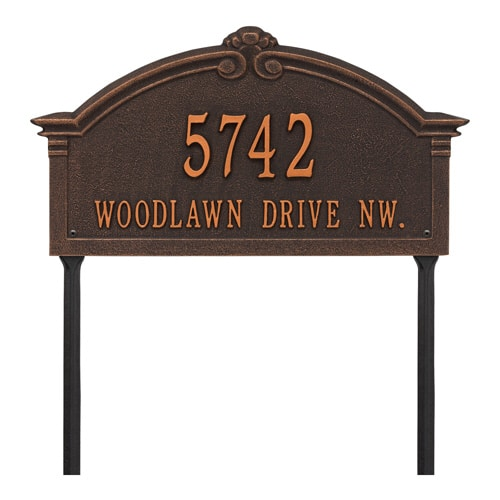 Whitehall Roselyn Lawn Marker Address Plaque Product Image